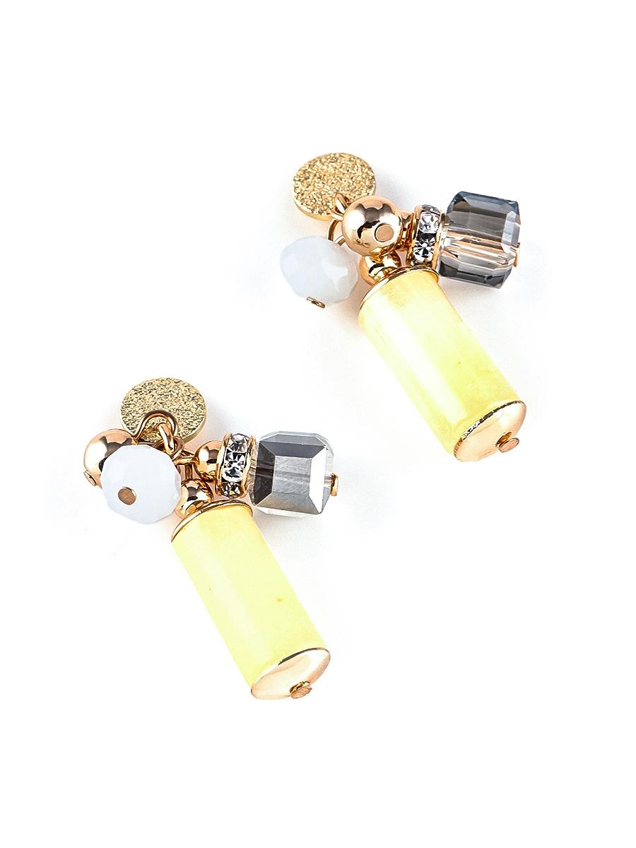 Серьги бижутерные Elizabeth 20110290, Кристаллы Swarovski, желтый, золотой