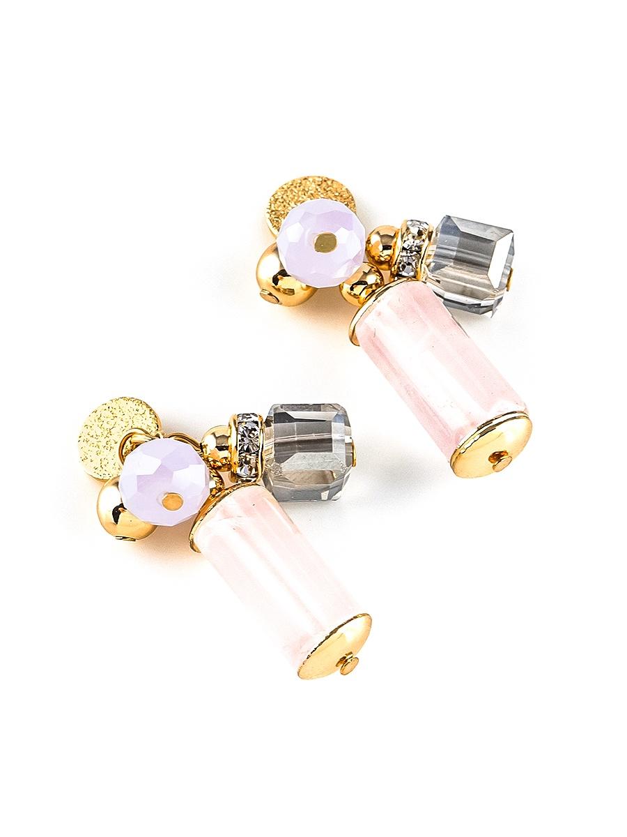 Серьги бижутерные Elizabeth 20110320, Кристаллы Swarovski, золотой, розовый
