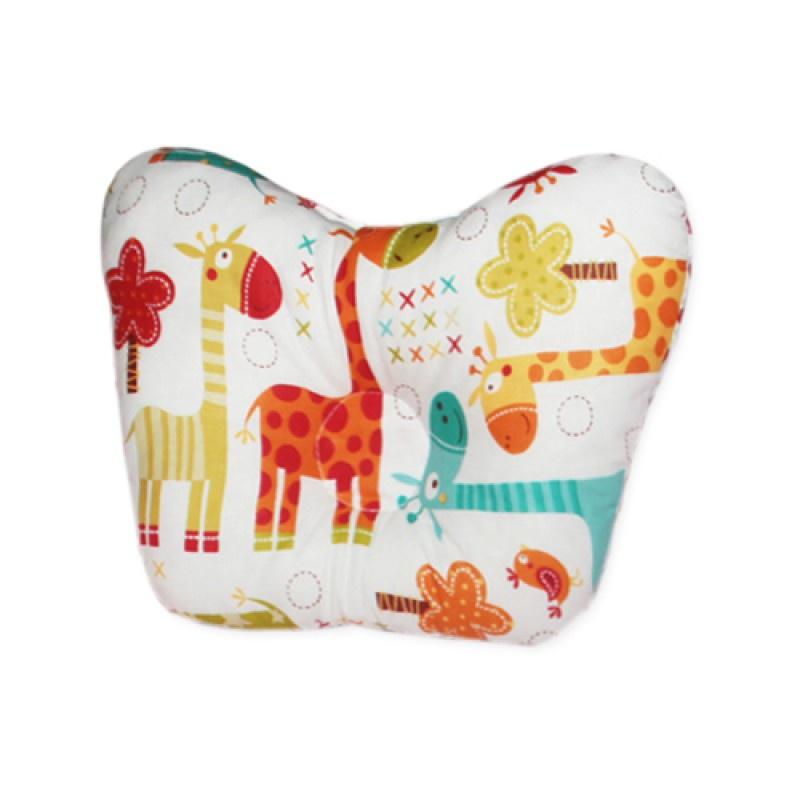 Детская подушка dolly-kids Подушка для новорожденных Бабочка, белый, оранжевый, зеленый