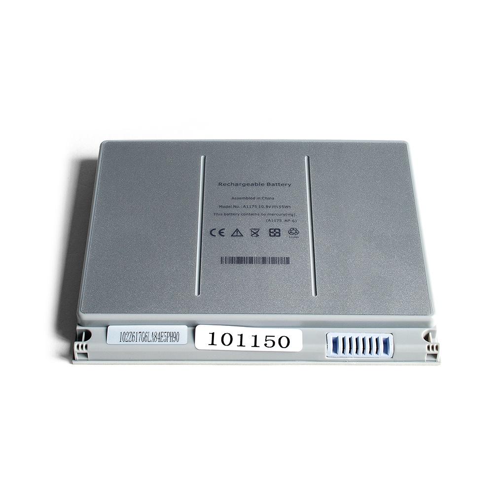 Аккумулятор для ноутбука OEM Apple (A1175) MacBook Pro 15 A1226, A1260 Series. 10.8V 5200mAh PN: A1175, MA348 Серебряный аккумулятор oem 15