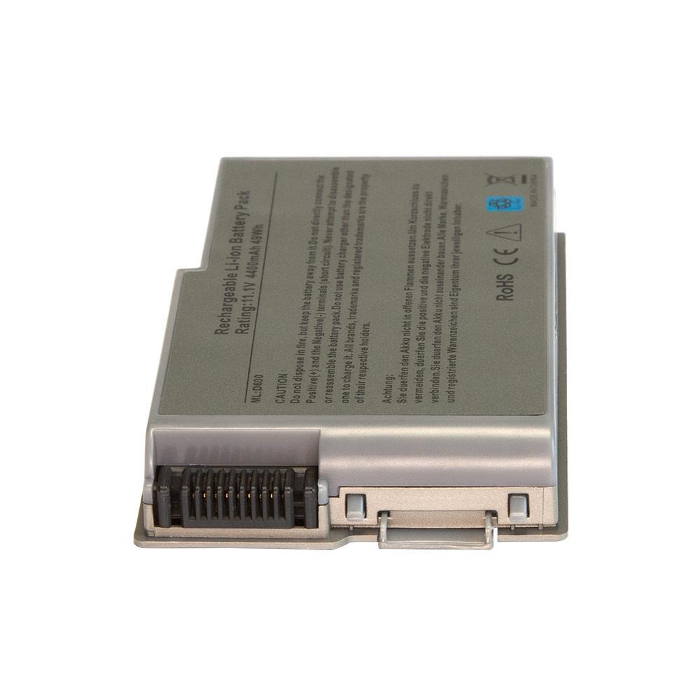 Аккумулятор для ноутбука OEM Dell Inspiron 500m, 510m, Latitude D500, D505, D520, D600 Precision M20 Series. 11.1V 4400mAh PN: M9014, 0X217 Серебряный аккумулятор для ноутбука dell latitude d810 precision m70 series 4400мач 11 1v topon top dl810