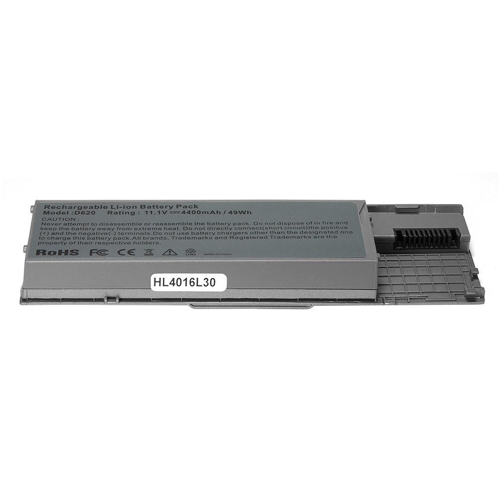 Аккумулятор для ноутбука OEM Dell Latitude D620, D630, Precision M2300 Series. 11.1V 4400mAh PN: 310-9080, GD775 Серебряный аккумулятор для ноутбука dell latitude d810 precision m70 series 4400мач 11 1v topon top dl810