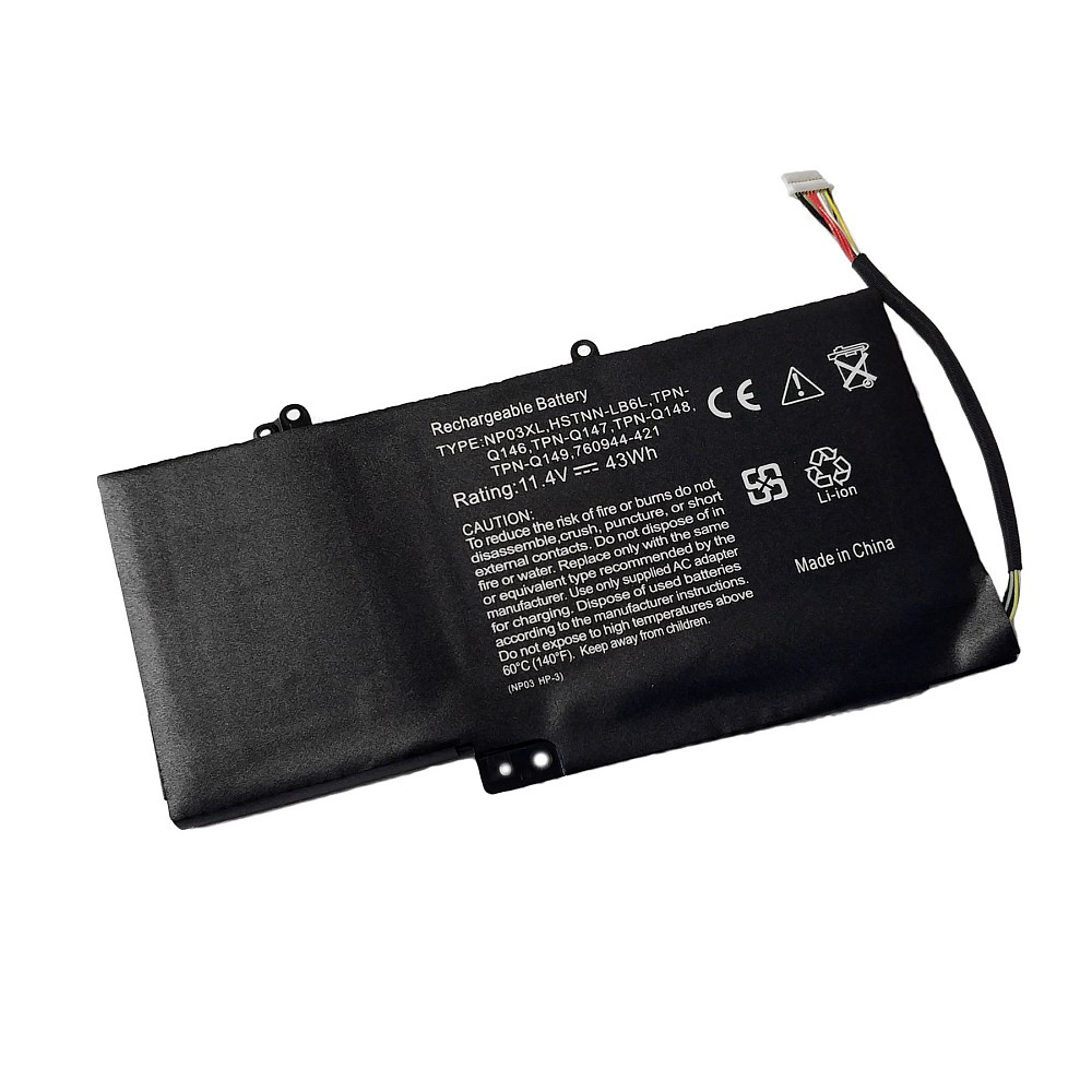 Аккумулятор для ноутбука OEM HP Envy X360 15, Pavilion 13-a000 Series. 11.4V 3720mAh PN: 760944-421, TPN-Q149 аккумулятор oem 15