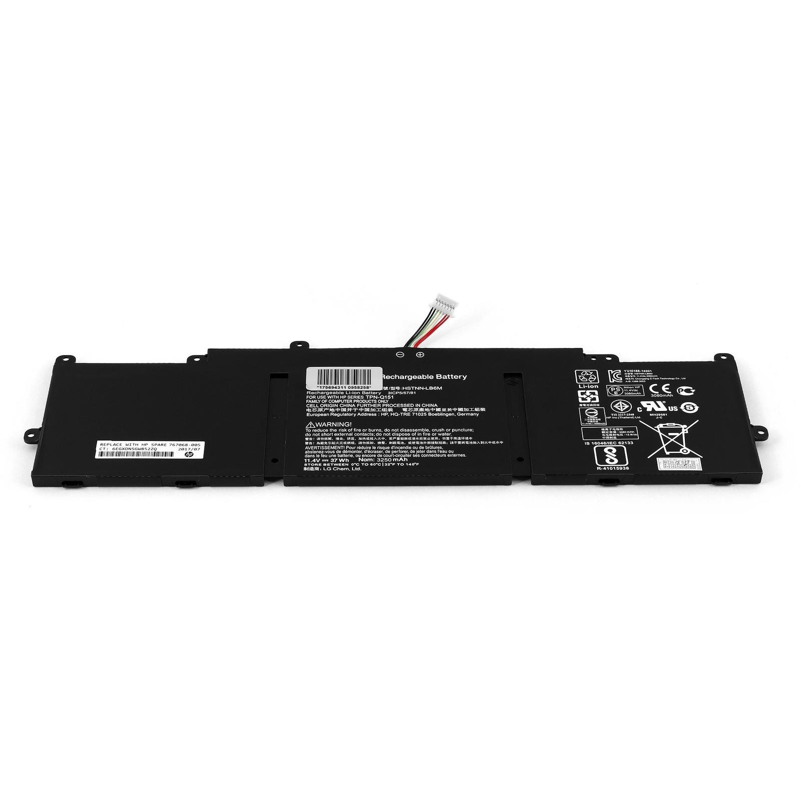 цена на Аккумулятор для ноутбука OEM HP Pavilion 11-e000, 11-e100, 11z-e000 TouchSmart Series. 11.4V 3250mAh PN: KP06, TPN-C112.