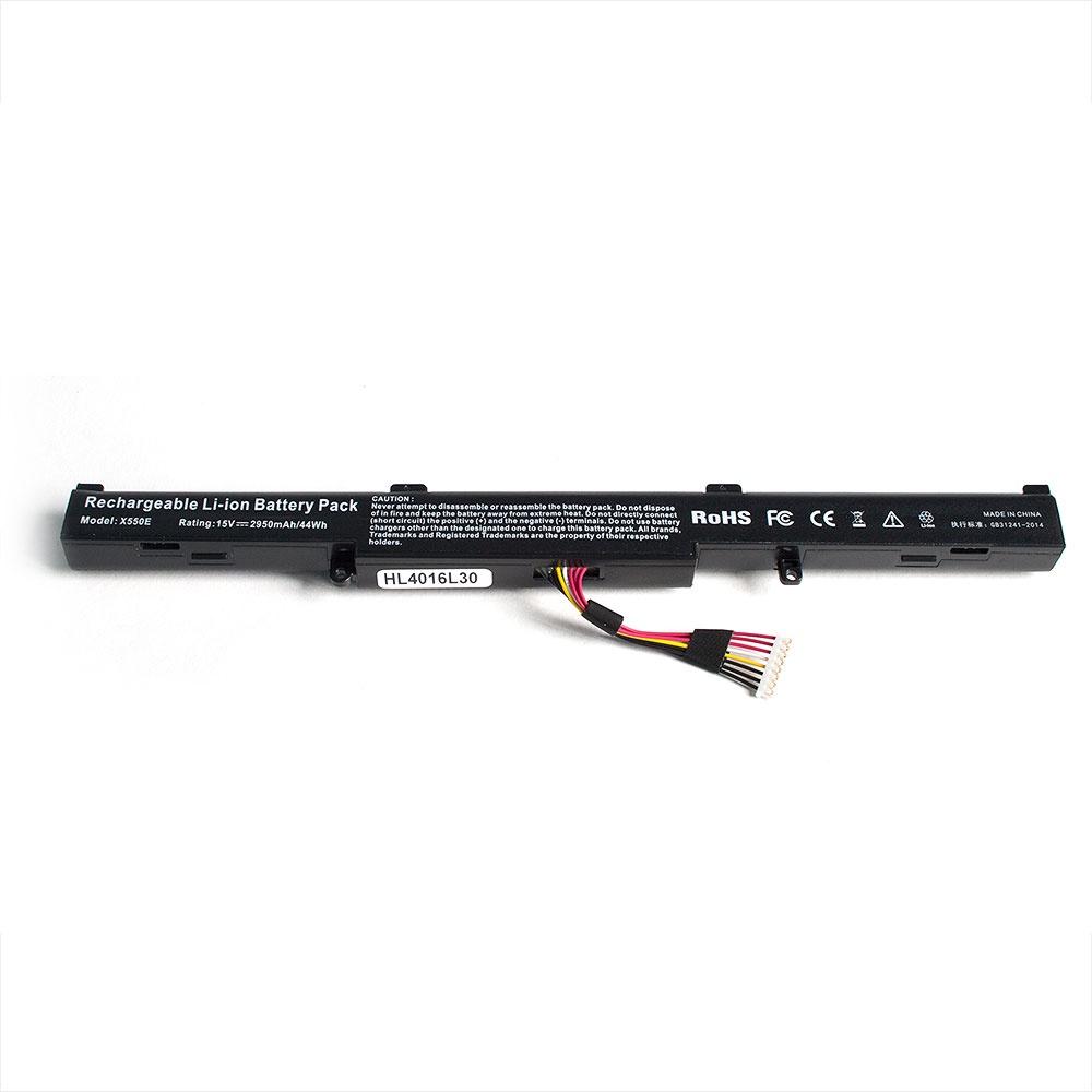 цена на Аккумулятор для ноутбука OEM Asus A41-X550E, X450J, X450JF, F750J, F750JB, R750J, R750JB, K750J Series. 14.4V 2200mAh. PN: A41-X550E, CS-AUX450NB