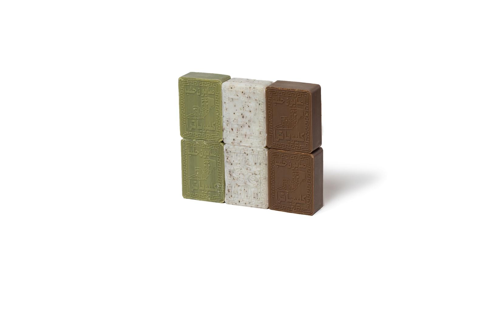 Мыло косметическое Cleopatra 6 шт в подарочной картонной упаковке темно зеленого цвета
