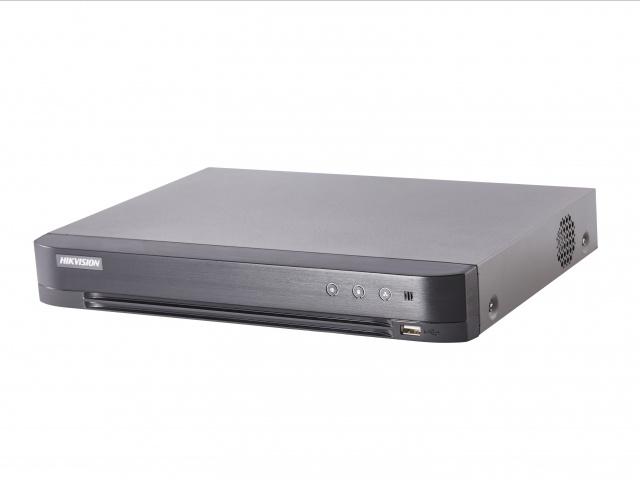 Регистратор HIKVISION Видеорегистратор HD-TVI DS-7204HUHI-K1/P, черный видеорегистратор для автотранспорта orient mdvr 104sd 4 канальный гибридный регистратор 4xcvbs 960h d1 4xahd 720p 1280x720 25fps синхронная запис