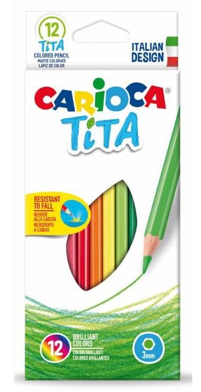 Набор карандашей 42793 carioca набор смываемых восковых карандашей baby 8 цветов
