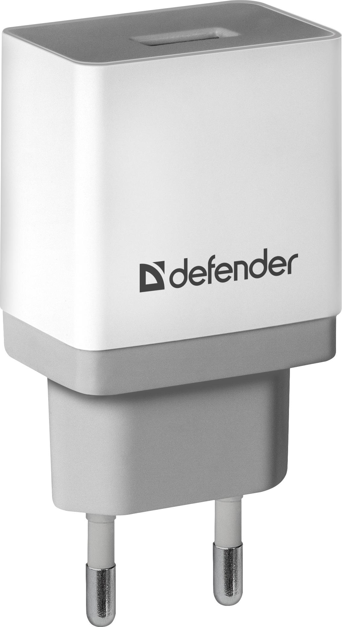Сетевой адаптер Defender UPA-21 белый, 1xUSB, 5V/2.1А сотовые телефоны