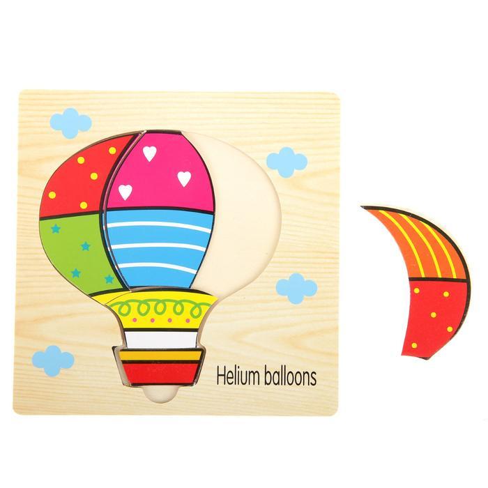 Пазл для малышей Пазл-вкладыш на деревянном основании Воздушный шар недорого