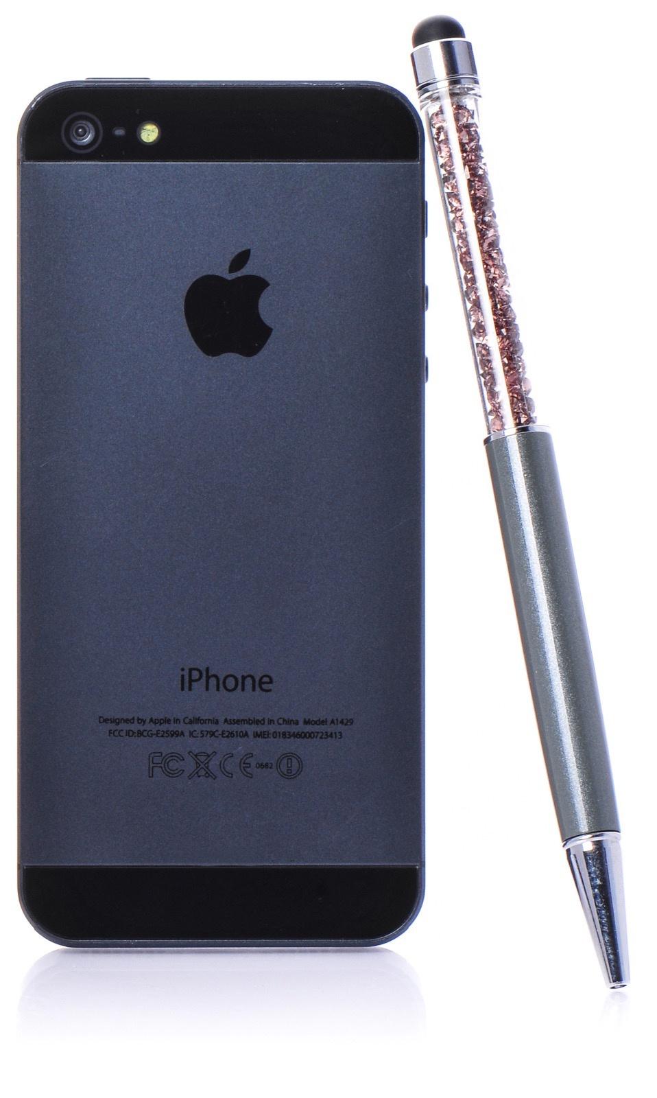 Стилус для мобильного телефона iNeez стилус-ручка емкостной с кристаллами, серый стилус iphone ipad