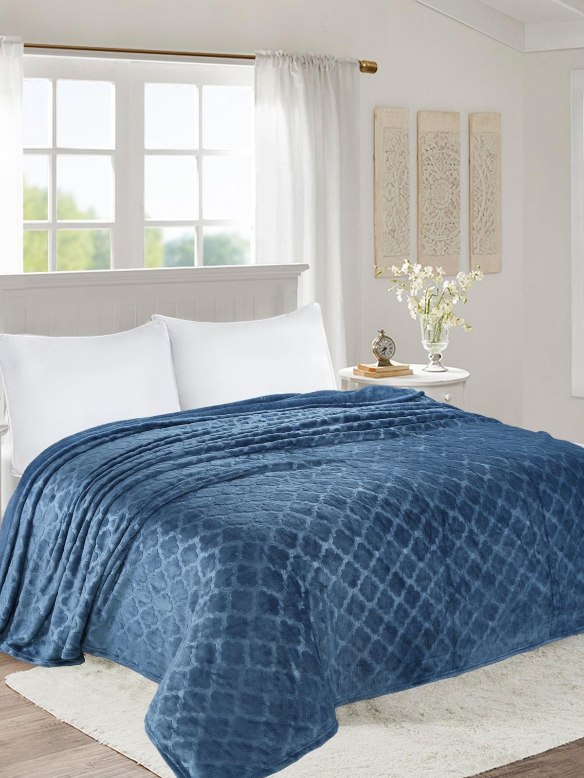 Плед world textile ВОРД-Евро002-0 синий плед sl плед sabrina 200х220 см