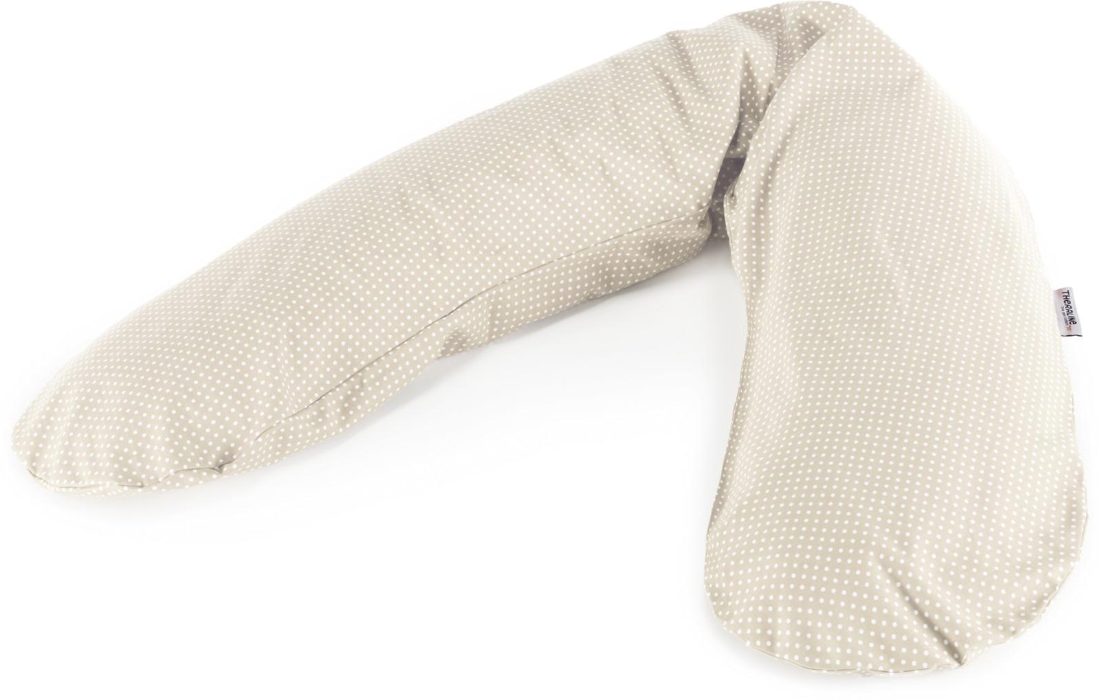 Подушка для кормящих и беременных Theraline Горошек бежевая, 51017500, бежевый