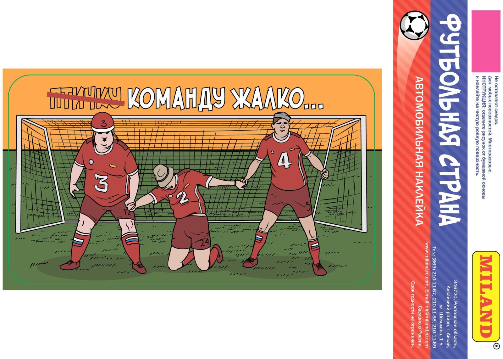 "Наклейка на авто Miland Футбольная страна ""Стенка"", НА-2485"