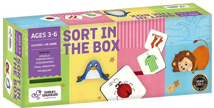 Обучающая игра CHALK & CHUCKLES Настольная игра для детей Sort in the box робинс настольная игра мой первый развивающий набор сортер формы и цвета