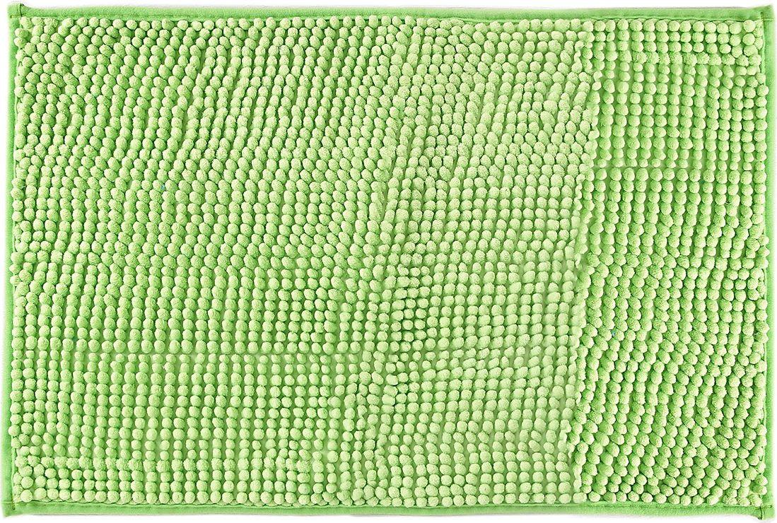 Коврик для ванной Доляна Букли, 1020631, зеленый, 40 х 60 см