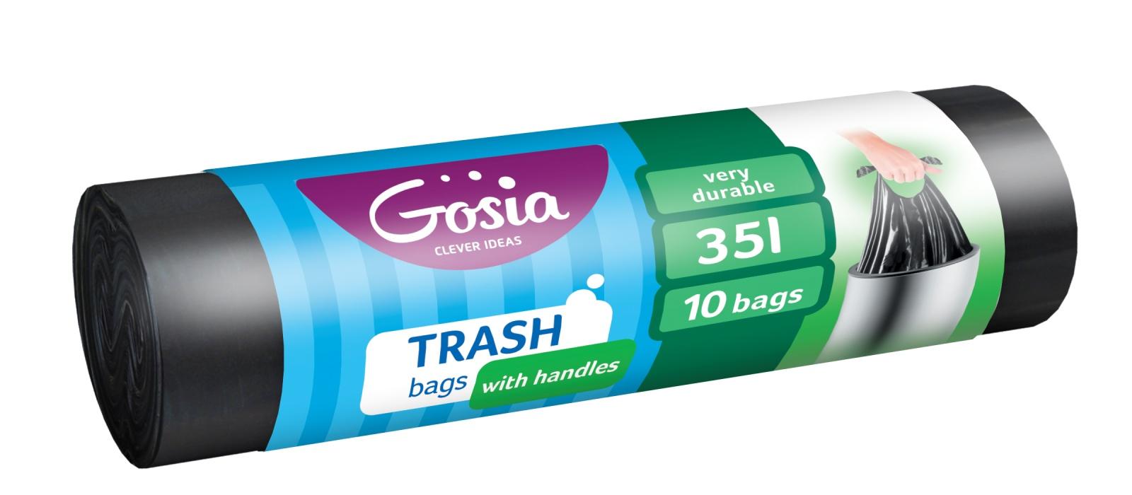 Мешки для мусора GOSIA 4340, черный все цены