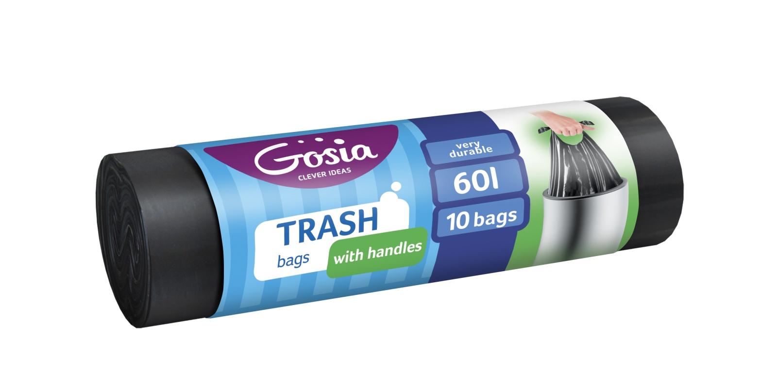 Мешки для мусора GOSIA 4388, черный все цены