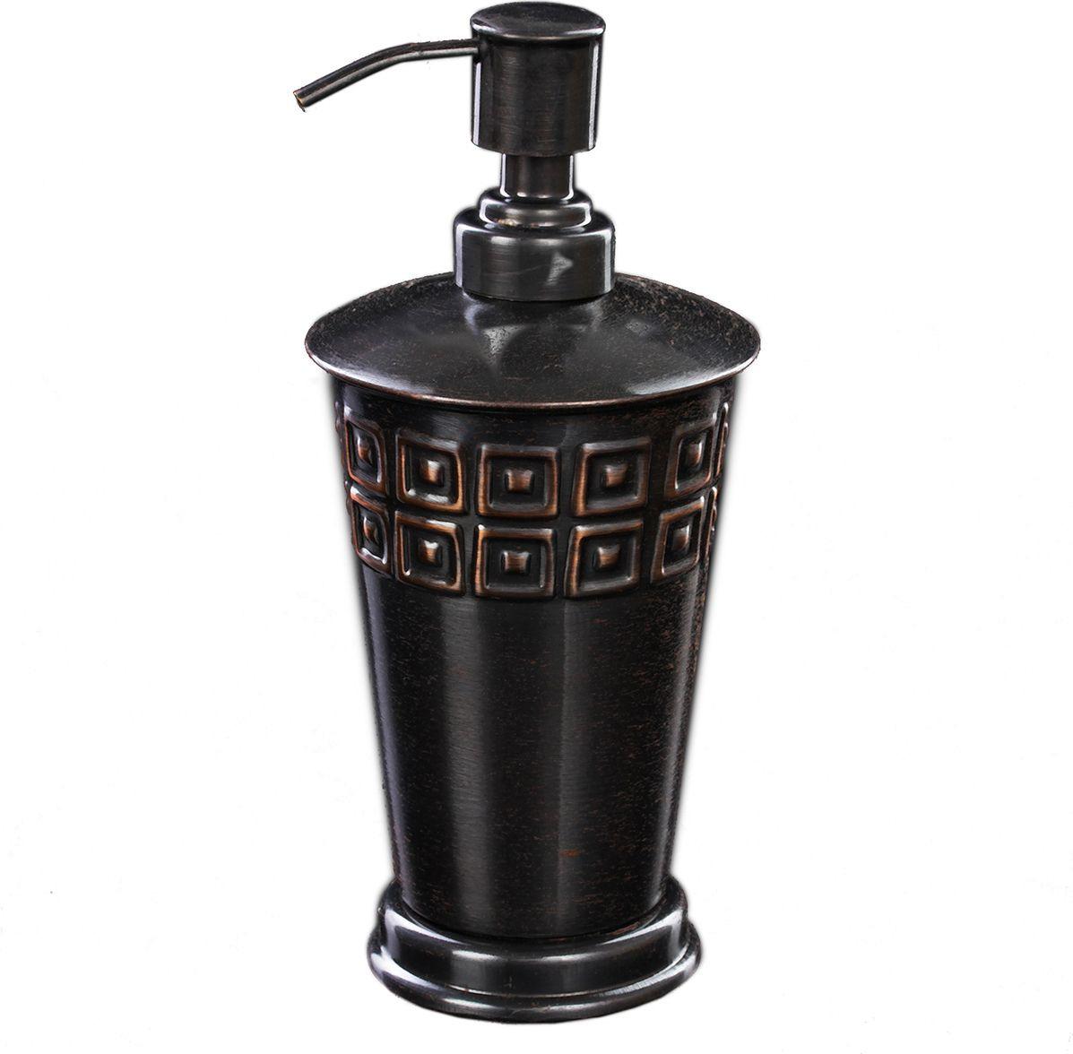 """Дозатор для ванной комнаты """"Орнамент"""", 2359077, серый"""