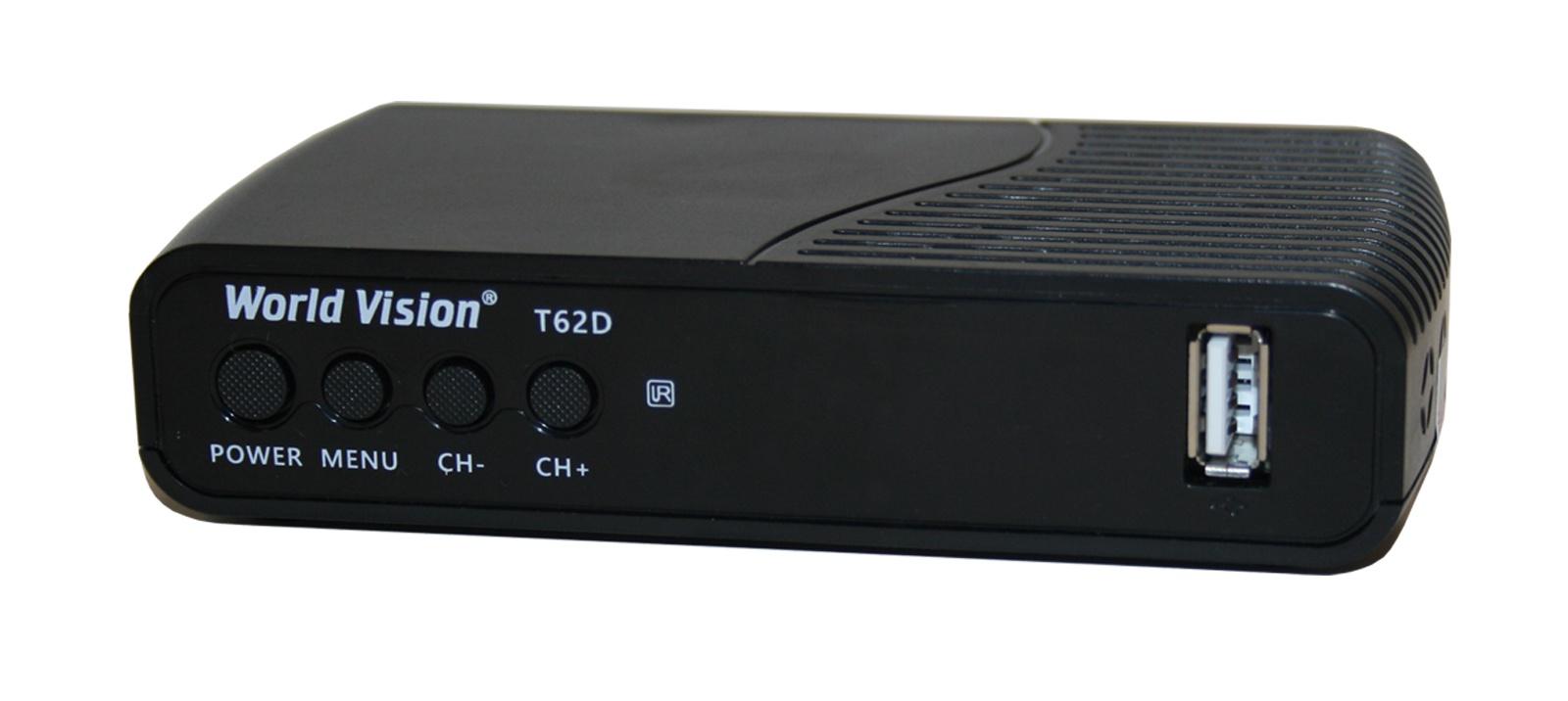 ТВ-тюнер/ресивер Worldvision Ресивер World Vision T62 D для приема цифрового сигнала DVB-C, DVB-T2 форматов высокого качества