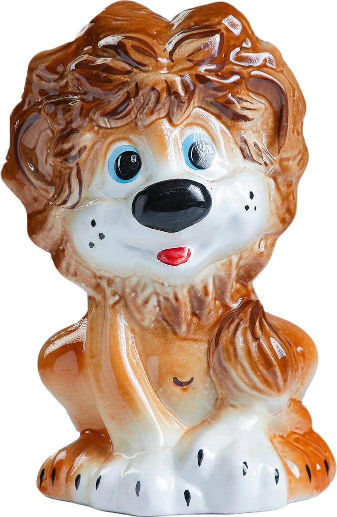 Фото - Подставка под ёрш Хорошие сувениры Львенок, с подставкой, 1802453, коричневый, оранжевый сувениры