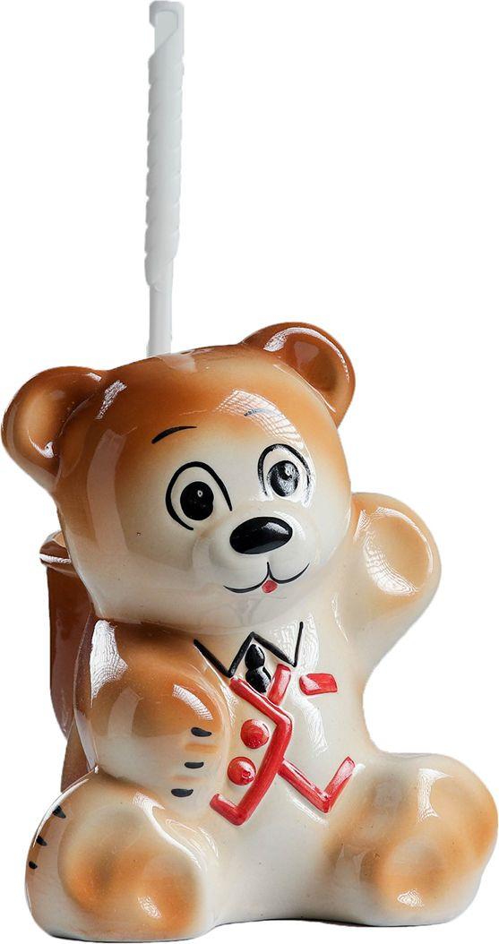 Фото - Подставка под ёрш Хорошие сувениры Мишка, с подставкой, 1802465, коричневый сувениры