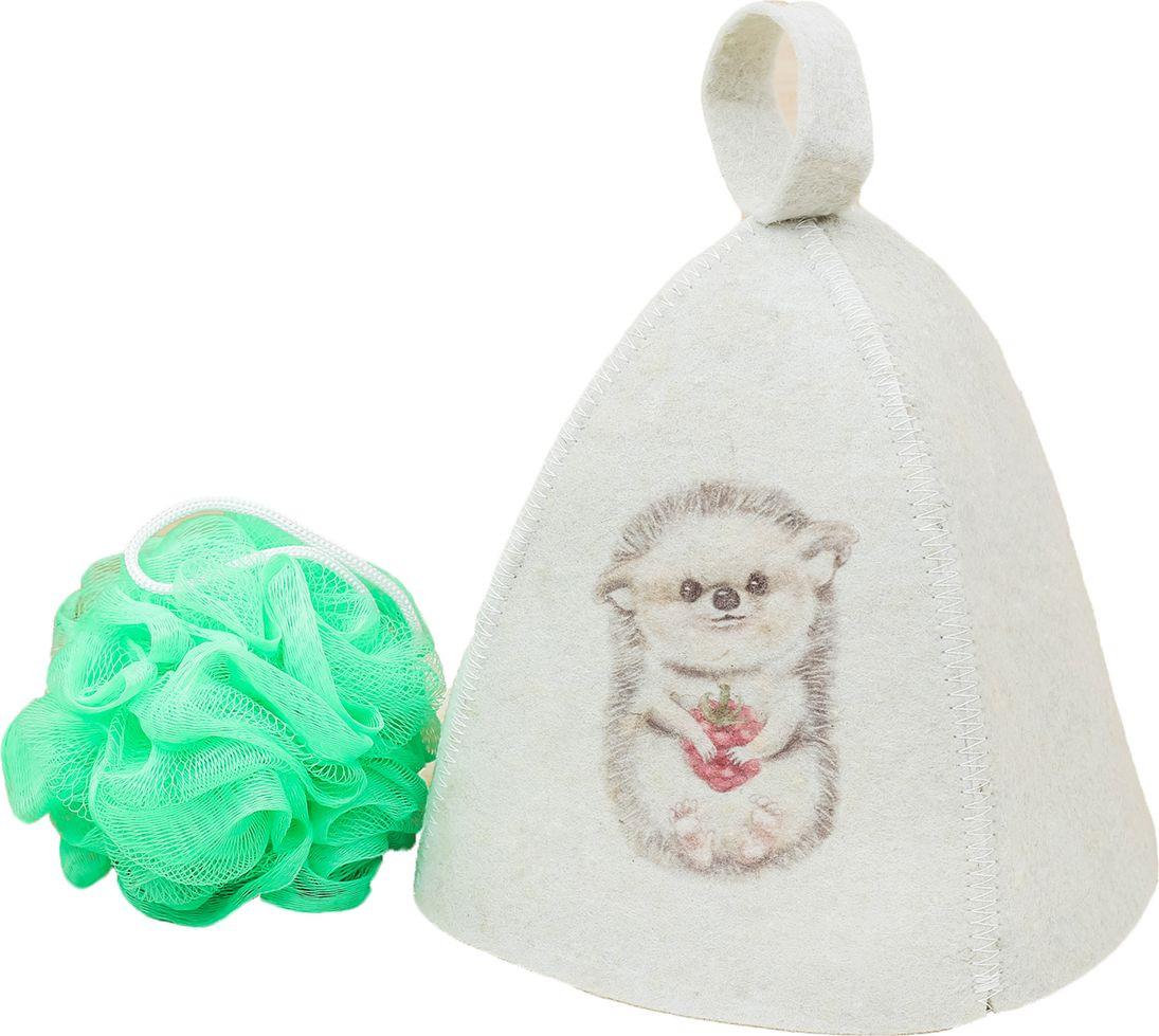 Детский банный набор Банная забава Моему ёжику, 2761065, белый банный массажер fidget go банный