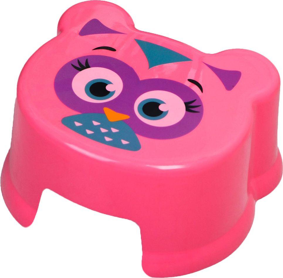 """Подставка детская Крошка Я """"Совенок"""", 2223722, розовый, 21 х 21 х 20 см"""