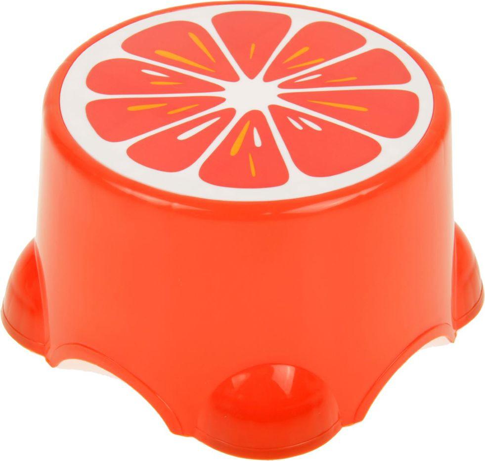 """Подставка детская """"Веселый апельсин"""", 2272276, оранжевый, 26 х 26 х 21 см"""