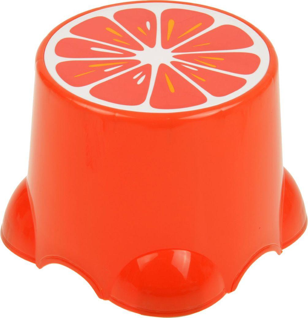 """Подставка детская """"Веселый апельсин"""", 2272283, оранжевый, 20,5 х 20,5 х 13 см"""