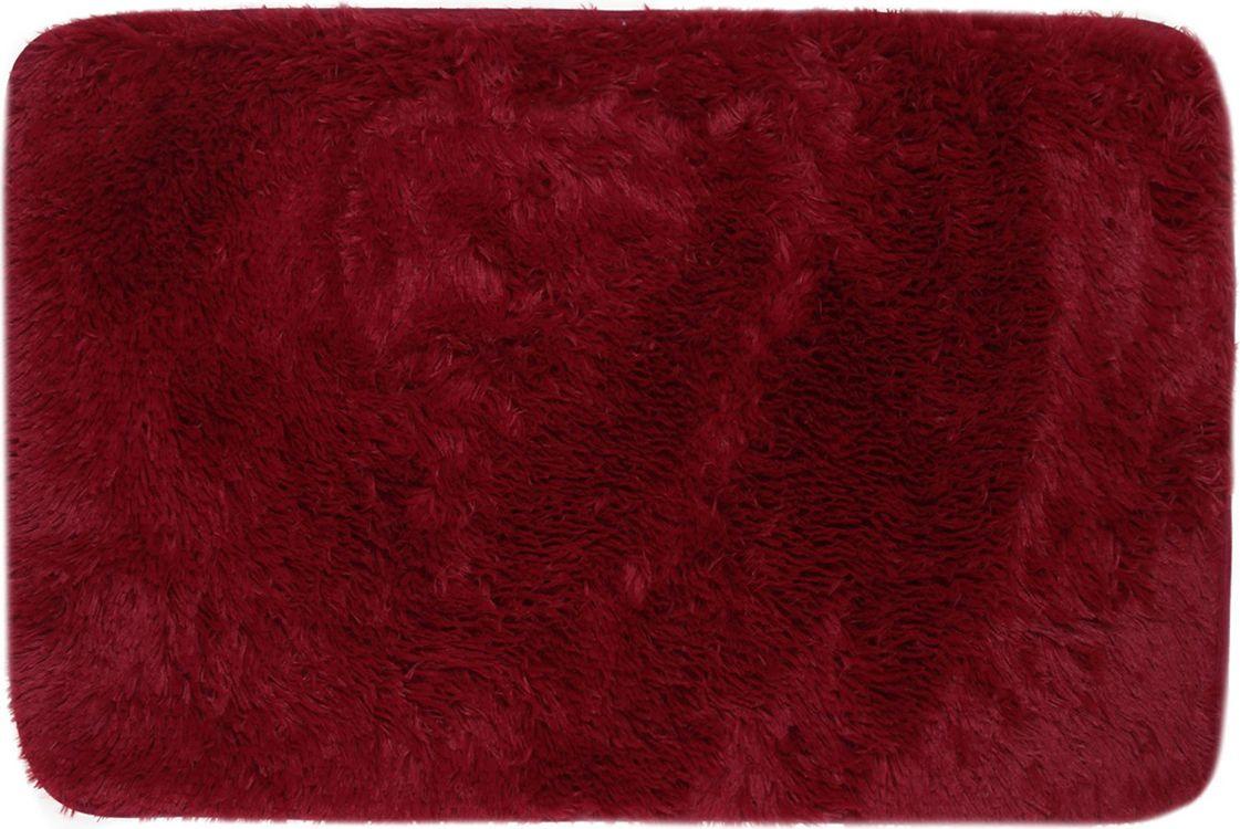 """Коврик для ванной Доляна """"Пушистик"""", 2857365, бордовый, 50 х 80 см"""