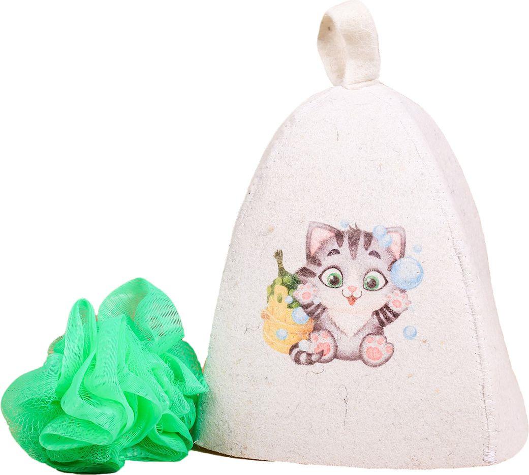 Детский банный набор Банная забава Нашему котенку, 2867541, белый банный массажер fidget go банный