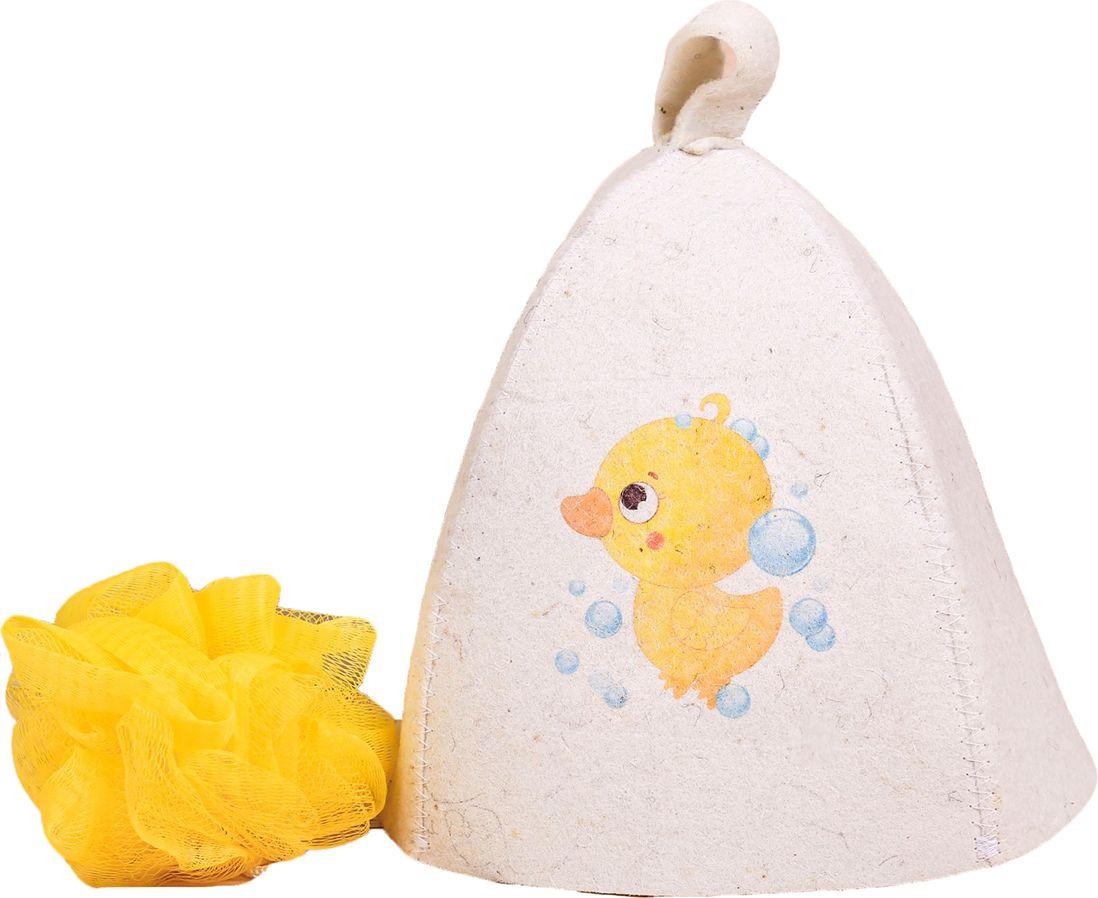 Детский банный набор Банная забава Нашему утенку, 2867543, белый банный массажер fidget go банный