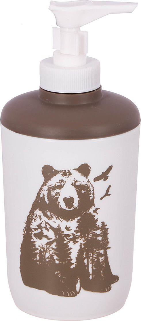 """Дозатор для ванной комнаты """"Медведь"""", 3243546, белый"""