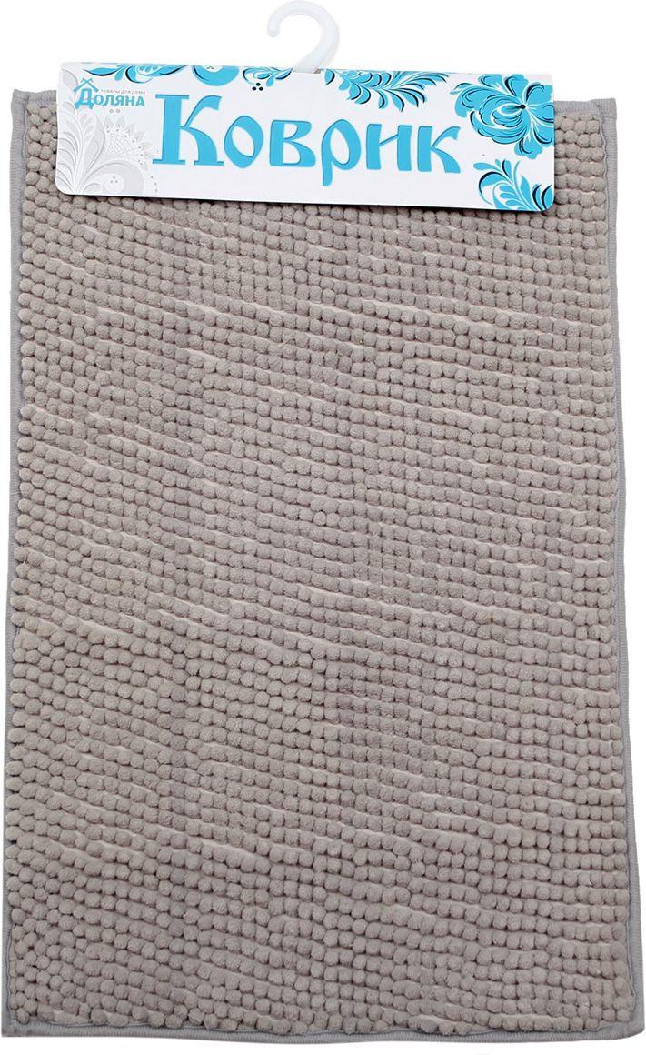 Коврик для ванной Доляна Букли, 2987299, серый, 40 х 60 см
