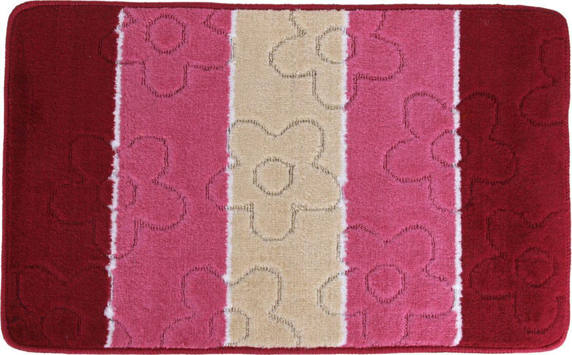 Коврик для ванной Доляна Ромашки, 813357, розовый, 50 х 80 см лопатка доляна цвет розовый