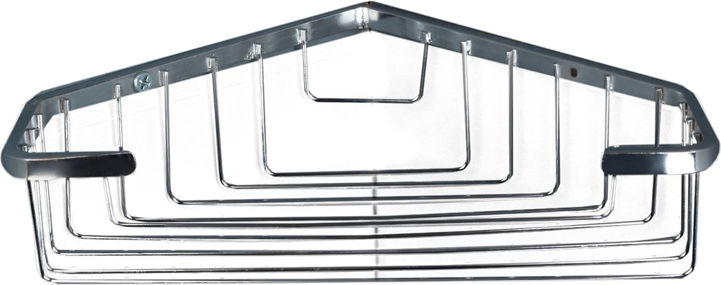 цены Полка для ванной комнаты Доляна, 3467617, серый металлик, 21 х 15 х 5 см
