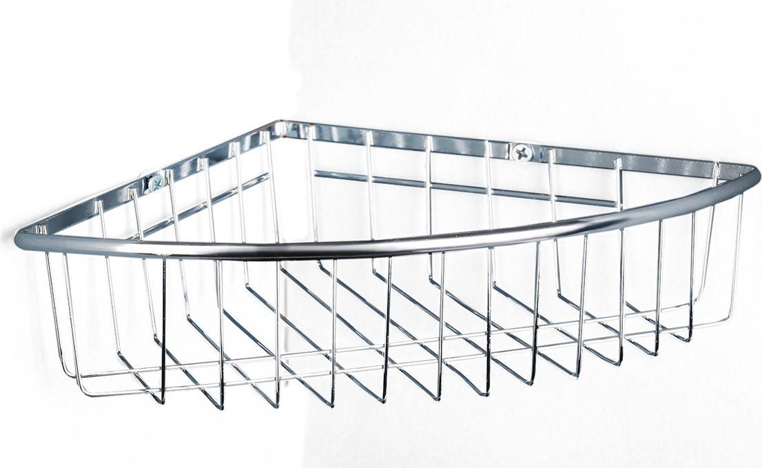 Полка для ванной комнаты Доляна, 3467618, серый металлик, 25 х 19 х 5 см