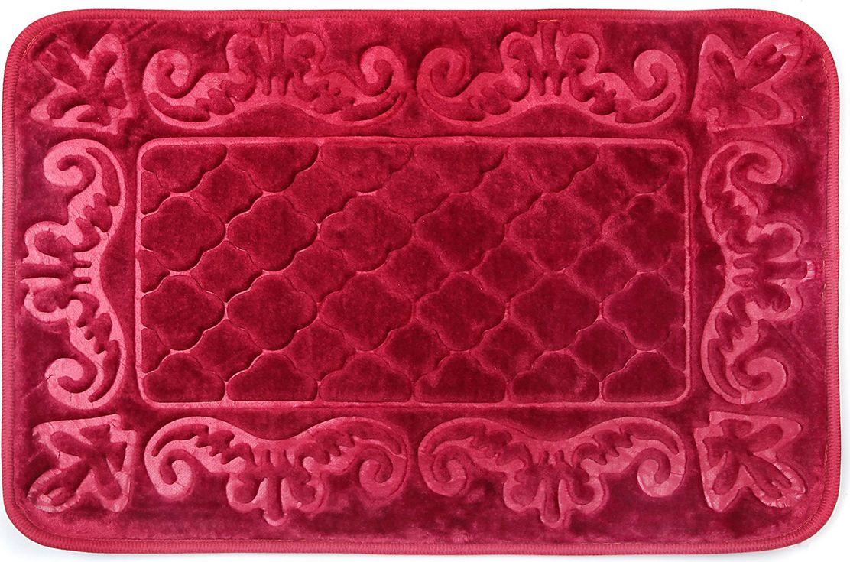 """Коврик для ванной Доляна """"Вензеля"""", 3542534, бордовый, 40 х 60 см"""