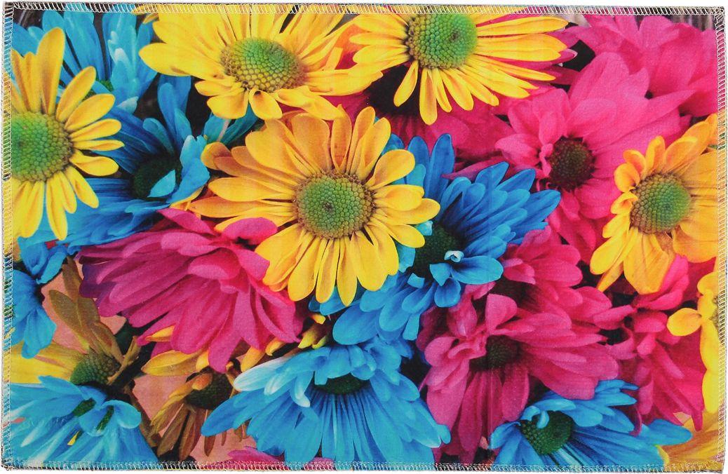 """Коврик для ванной Доляна """"Цветы"""", 3549700, разноцветный, 38 х 58 см"""