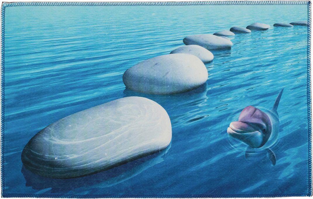 """Коврик для ванной Доляна """"Море"""", 3549702, разноцветный, 38 х 58 см"""