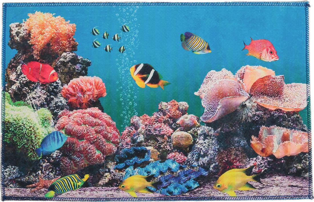 """Коврик для ванной Доляна """"Морское дно"""", 3549703, разноцветный, 38 х 58 см"""