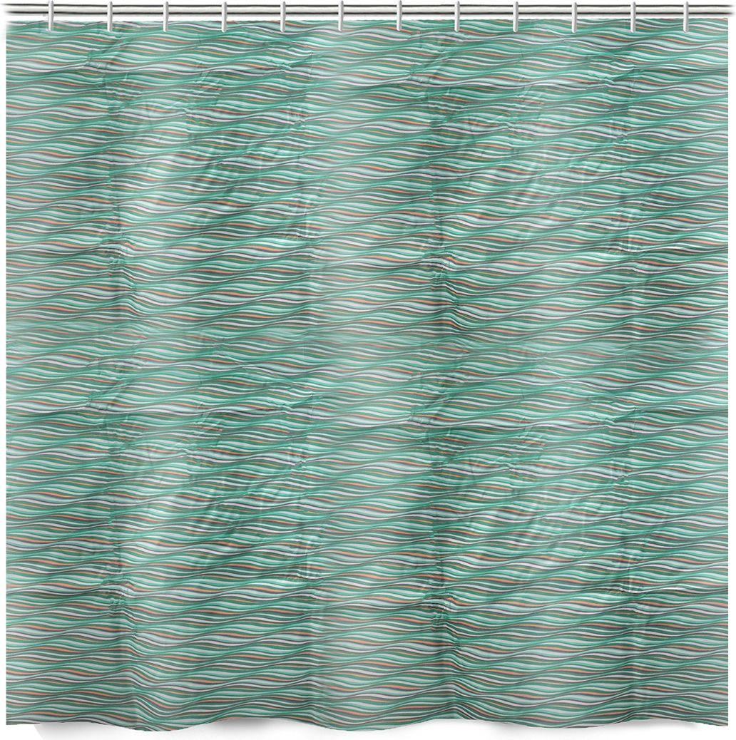 Штора для ванной Доляна Бриз, 3622257, зеленый, 180 х 180 см штора для ванной swensa бамбук цвет зеленый 180 х 180 см