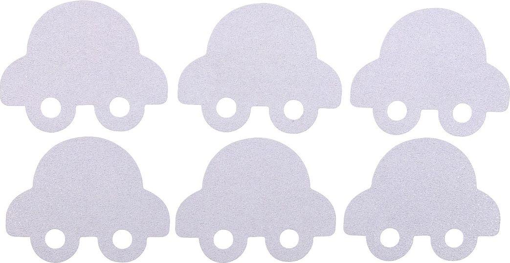 цена на Противоскользящие наклейки для ванны Крошка Я Машинка, 3623331, прозрачный, белый, 6 шт
