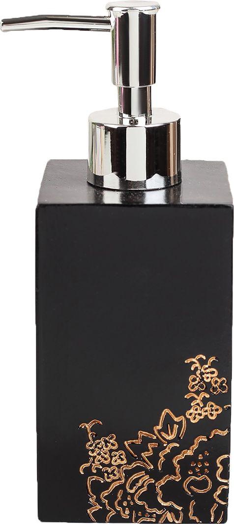"""Дозатор для жидкого мыла """"Каллиграфия"""", 3630137, черный"""
