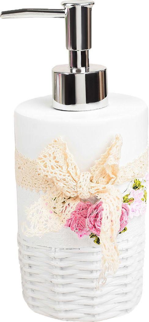 """Дозатор для жидкого мыла """"Нежность"""", 3630138, белый"""