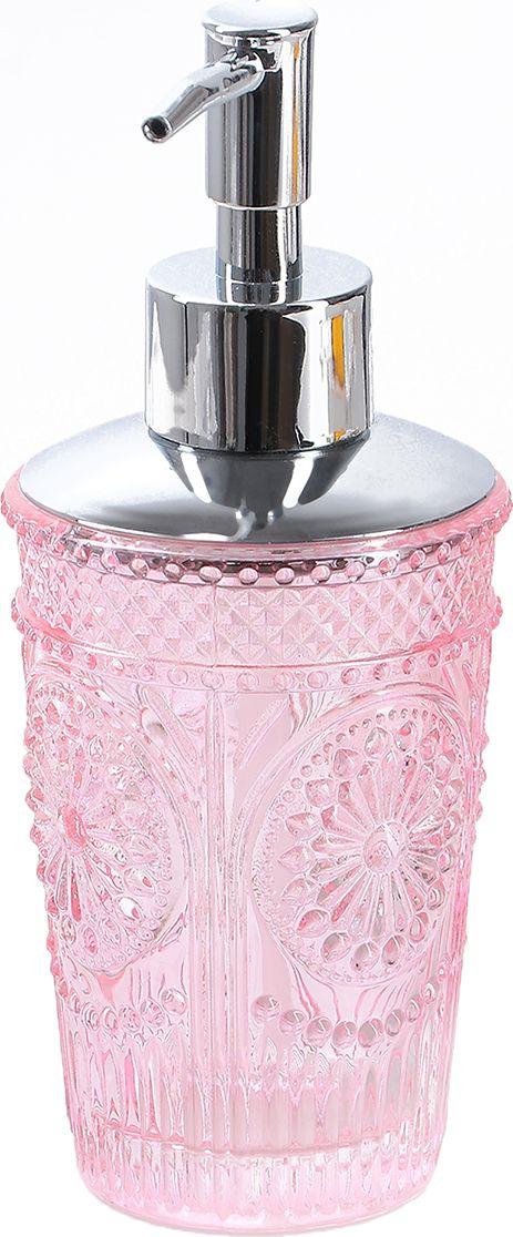 """Дозатор для жидкого мыла """"Элегант"""", 3823805, розовый"""