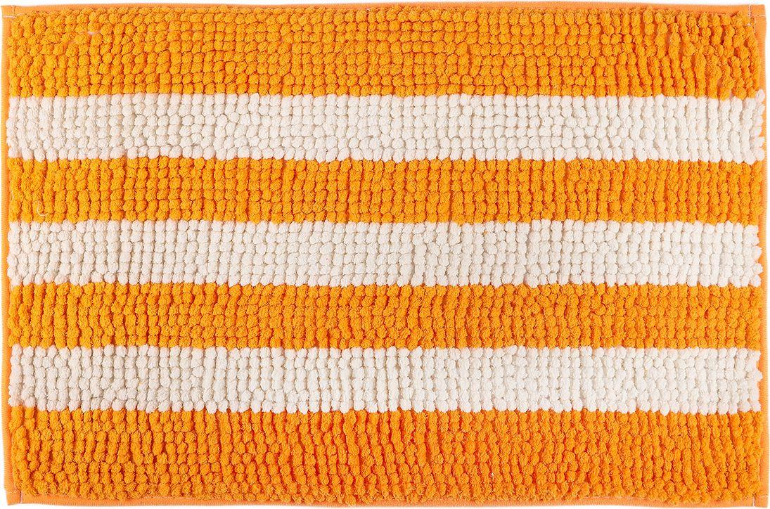 Коврик для ванной Доляна Букли полосатые, 3904464, желтый, 40 х 60 см