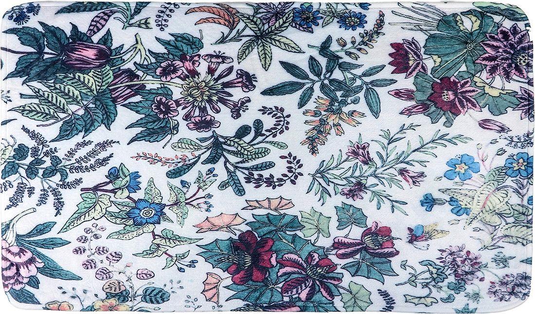 """Набор ковриков для ванной Доляна """"Цветочное поле"""", 3904467, зеленый, белый, 2 шт"""