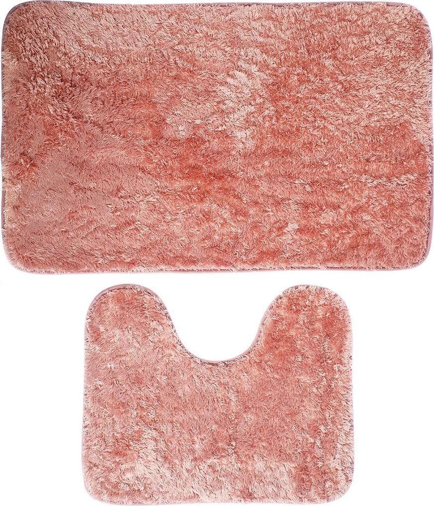 """Набор ковриков для ванной """"Пушистик"""", 3924900, розовый, 2 шт"""